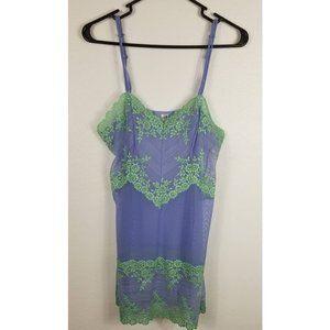 Wacoal Purple & Green Intimate Dress Sz L